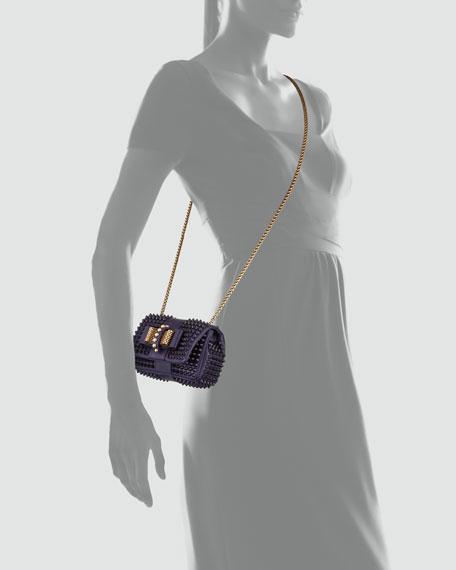 Sweety Charity Spiked Crossbody Bag, Purple