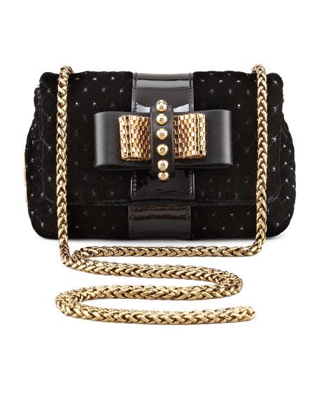 Sweety Charity Velvet Crossbody Bag, Black