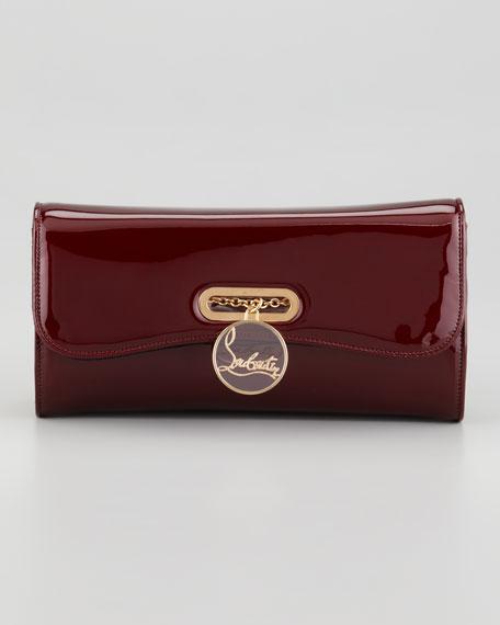 Riviera Patent Clutch Bag, Red
