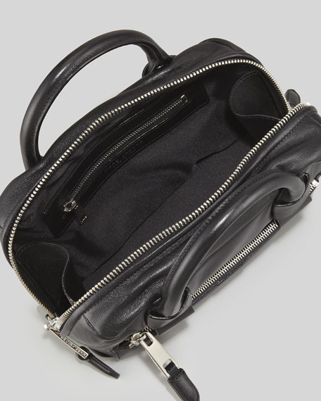 Box Bag Leather Crossbody, Black