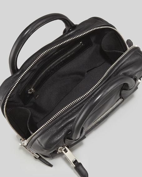 Box Bag Leather Crossbody, Black