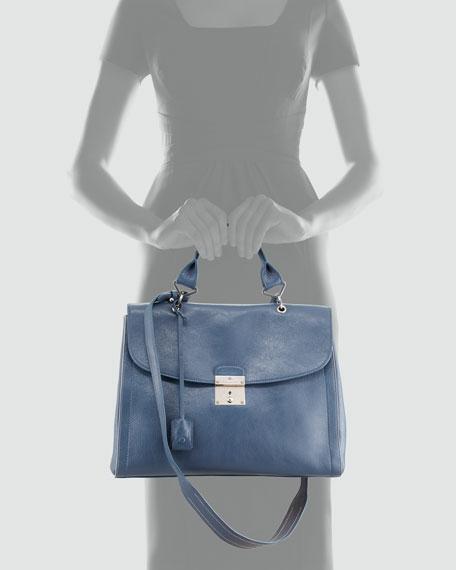 The 1984 Satchel Bag, Blue