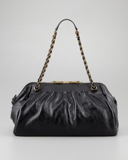 Marc Jacobs Ava East-West Chain-Strap Shoulder Bag, Black