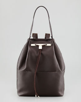 THE ROW Leather Drawstring Backpack