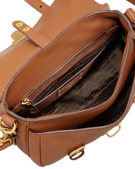 Daino Flap-Lock Messenger Bag, Brown (Brandy)