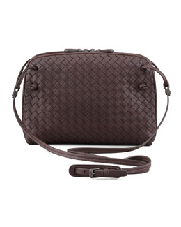 Veneta Messenger Bag, Dark Brown