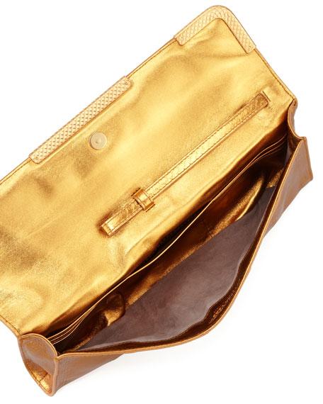 d7efc6f6d0 Bottega Veneta Metallic East-West Snake Clutch Bag
