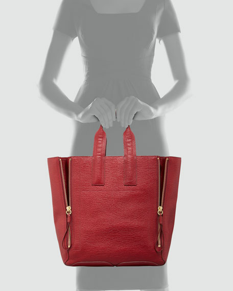 Pashli Large Zip Tote Bag, Red