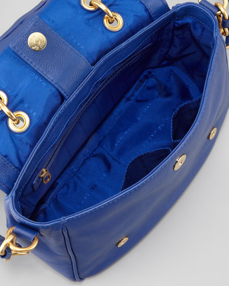 Too Hot To Handle Small Flap-Top Bag, Blue