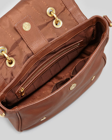 Too Hot To Handle Small Flap-Top Bag, Brown