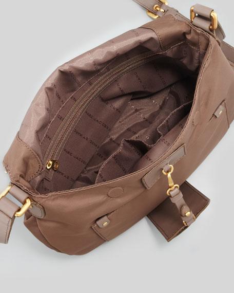 Preppy Nylon Natasha Crossbody Bag, Brown