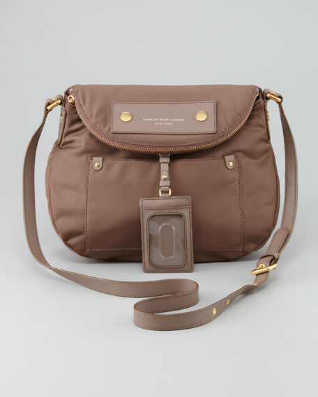Preppy Nylon Natasha Crossbody Bag, Brown