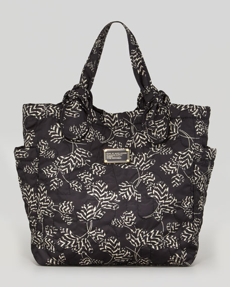 Pretty Nylon Tate Printed Medium Tote Bag, Black