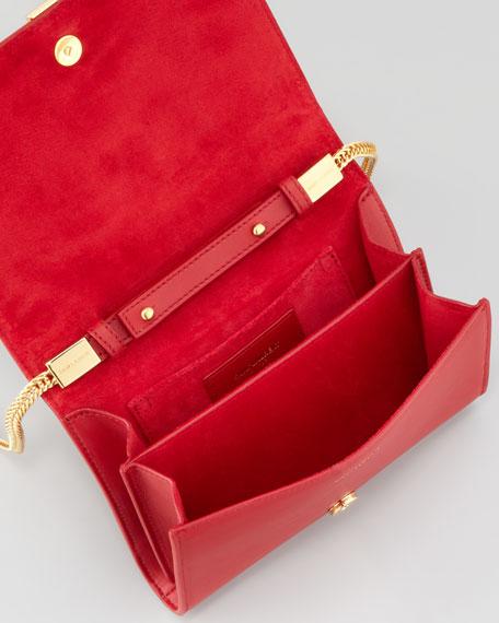 Mini Pochette Y Chain Bag, Red