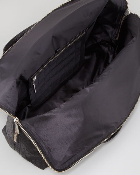 31-Hour Snake-Embossed Bag, Black
