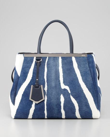 3dbff8db35eb Fendi 2Jours Medium Zebra-Print Calf Hair Tote Bag