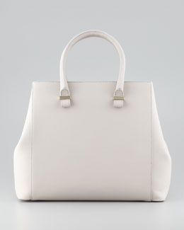 Victoria Beckham Liberty Structured Tote Bag, Light Gray