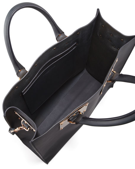 Signature Leather Tote Bag, Black