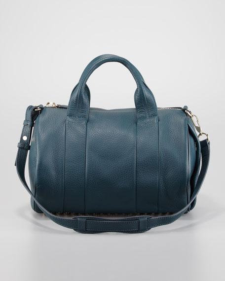 Rocco Stud-Bottom Satchel Bag, Dark Argon