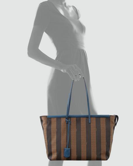 b840a40138 Fendi Pequin-Striped Roll Tote Bag