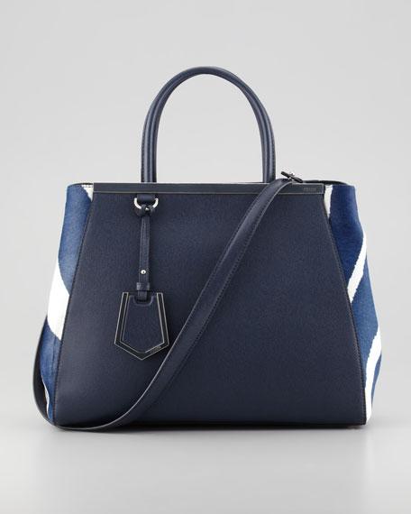 2Jours Zebra-Print Tote Bag, Blue/Multi