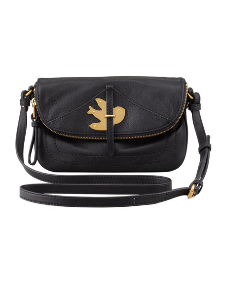 Petal to the Metal Percy Crossbody Bag, Black