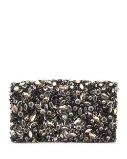 Alice + Olivia Be Jeweled Embellished Clutch Bag, Gray Multi