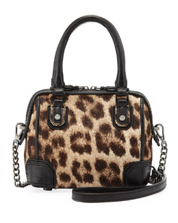 Alice + Olivia Olivia Mini Calf Hair Shoulder Bag, Leopard