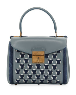 Marc Jacobs Mini Metropolitan Satchel, Cloud/Atlantic