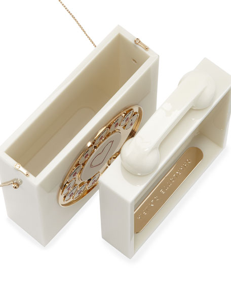Chatterbox Phone Box Clutch, Vanille