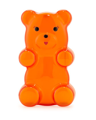 Gummi Bear Acrylic Clutch Bag, Orange