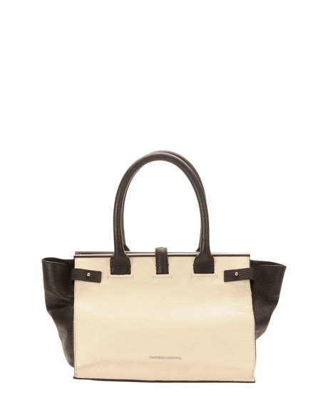 Parigi Two-Tone Framed Shopper Tote Bag