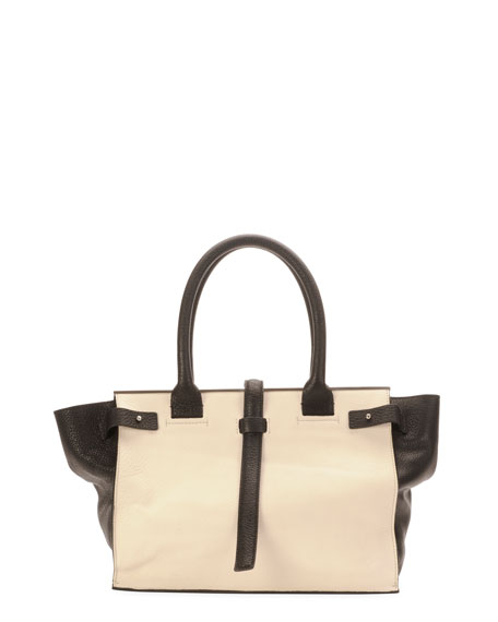 Parigi Two-Tone Framed Shopper Tote Bag