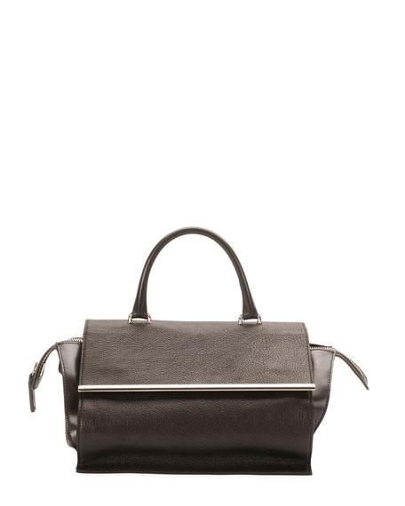 Parigi Mini Flap Satchel Bag, Black