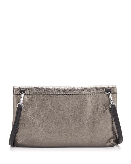 Raveheart Metallic Clutch Bag, Gray