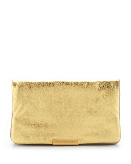 MARC by Marc Jacobs Raveheart Metallic Clutch Bag, Gold