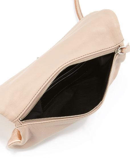 Raveheart Metallic Clutch Bag, Rose Gold