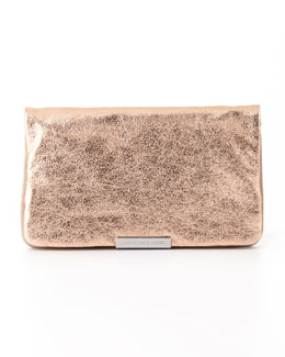 MARC by Marc Jacobs Raveheart Metallic Clutch Bag, Rose Gold