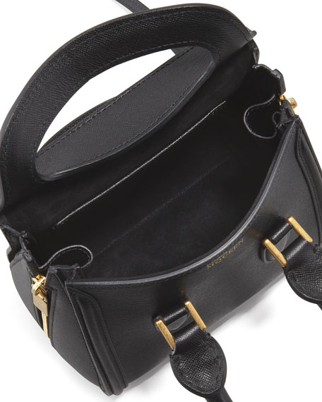 Heroine Mini Satchel Bag, Black