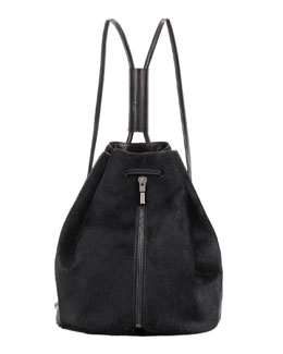 Elizabeth and James Calf Hair Drawstring Backpack