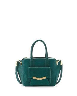 Time's Arrow Mini Jo Serpent-Print Tote Bag, Emerald