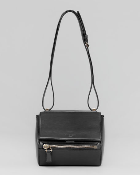 Pandora Box Small Leather Shoulder Bag, Black