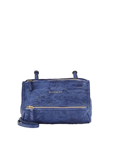8e2839a3f60ec Givenchy Pandora Mini Leather Crossbody Bag, Blue