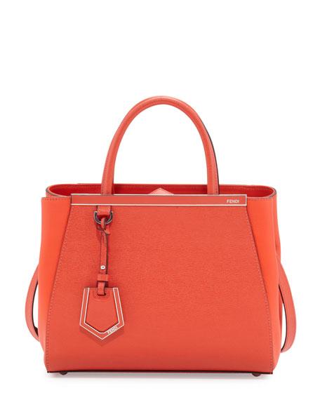 2Jours Saffiano Mini Tote Bag, Red Orange