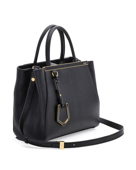 2Jours Petite Leather Tote Bag, Black