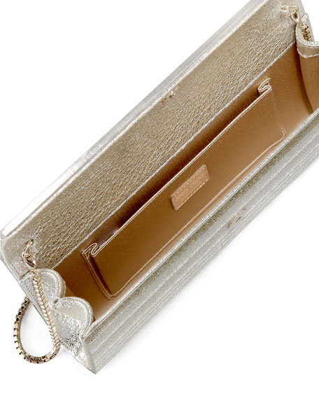 Sweetie Glittery Clutch Bag, Champagne