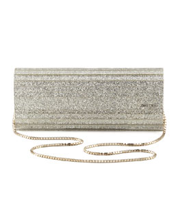 Jimmy Choo Sweetie Glittery Clutch Bag, Champagne