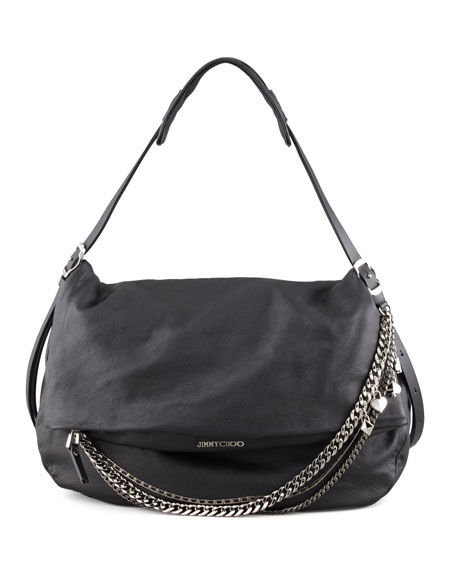 ee9ac28c5510 Jimmy Choo Biker Large Hobo Bag
