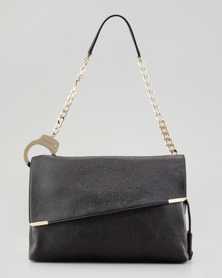 Ally Handcuff-Strap Shoulder Bag, Black