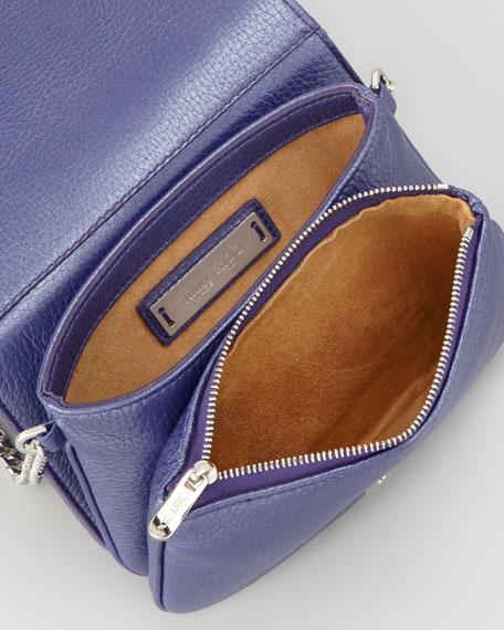 Shadow Leather Crossbody Bag, Violet